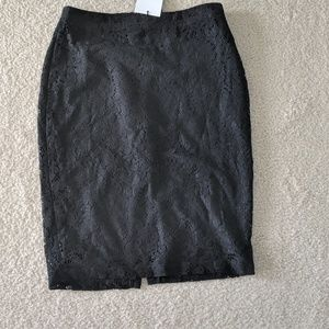 Who What Wear Skirts - NEW Who What Wear Black Lace Pencil Skirt